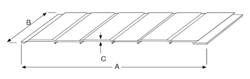 Placa em PVC P100 Robustponds